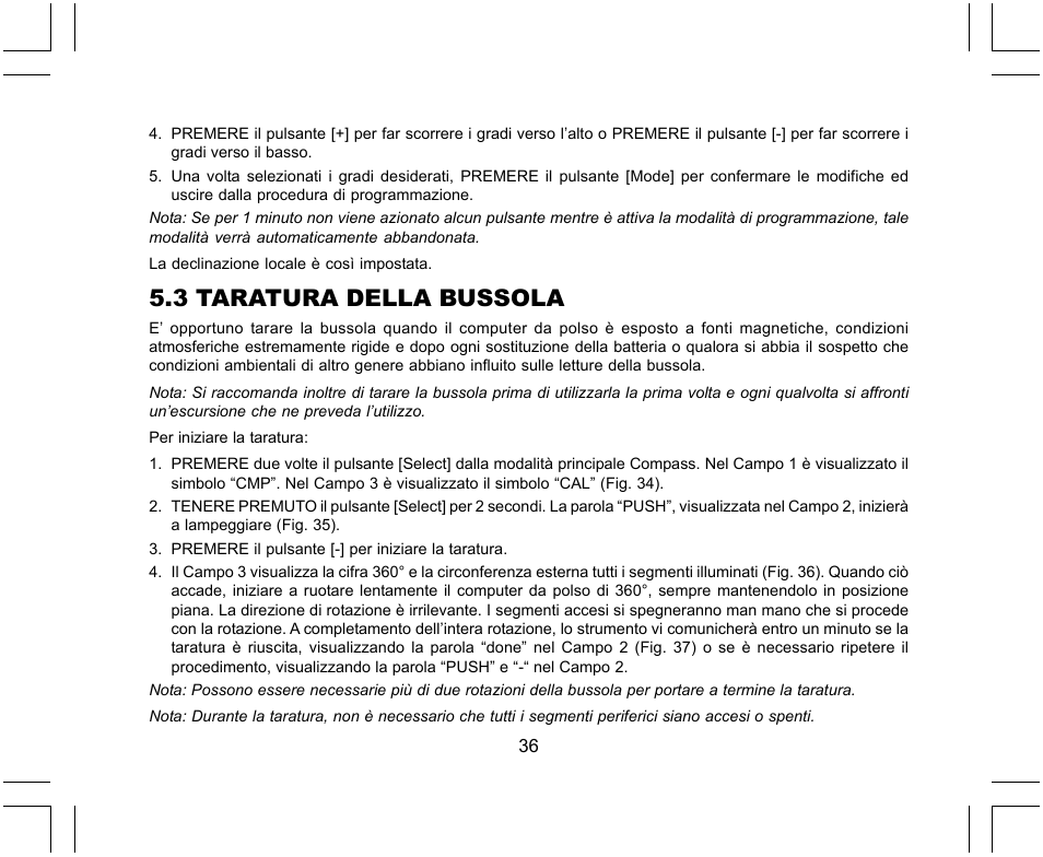 3 taratura della bussola suunto x lander user manual page 224 rh manualsdir com User Manual PDF Corvette Owners Manual