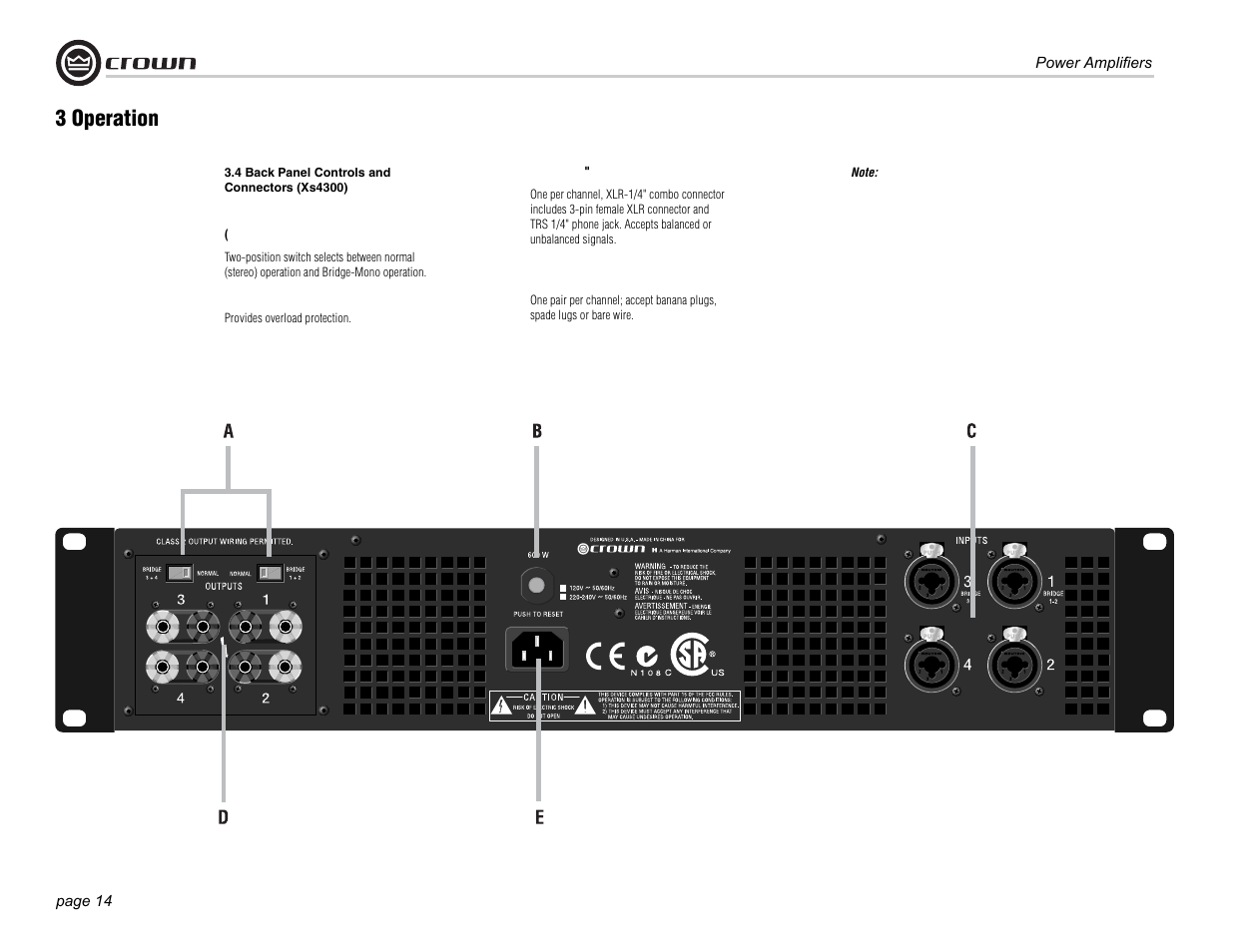 3 operation crown audio xs500 user manual page 14 28 rh manualsdir com