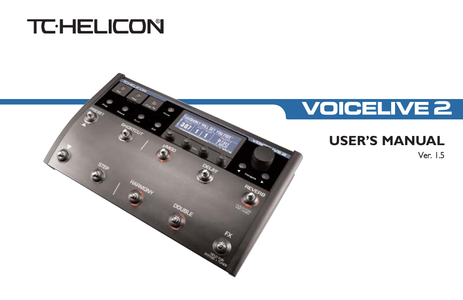 Tc helicon helecon voicelive 2 box, manual & power supply included.
