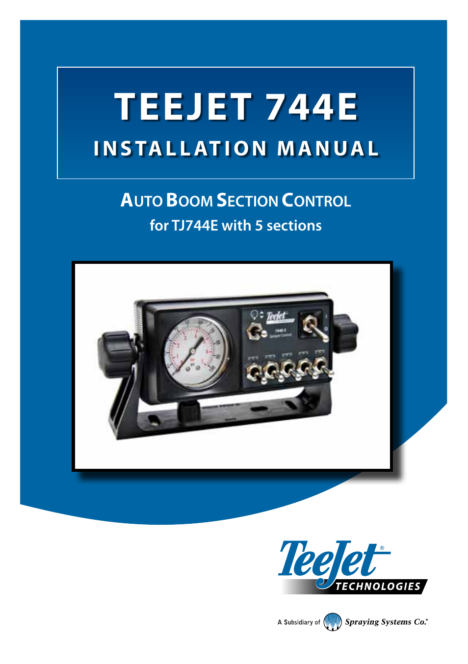 teejet 744e auto boom section control user manual