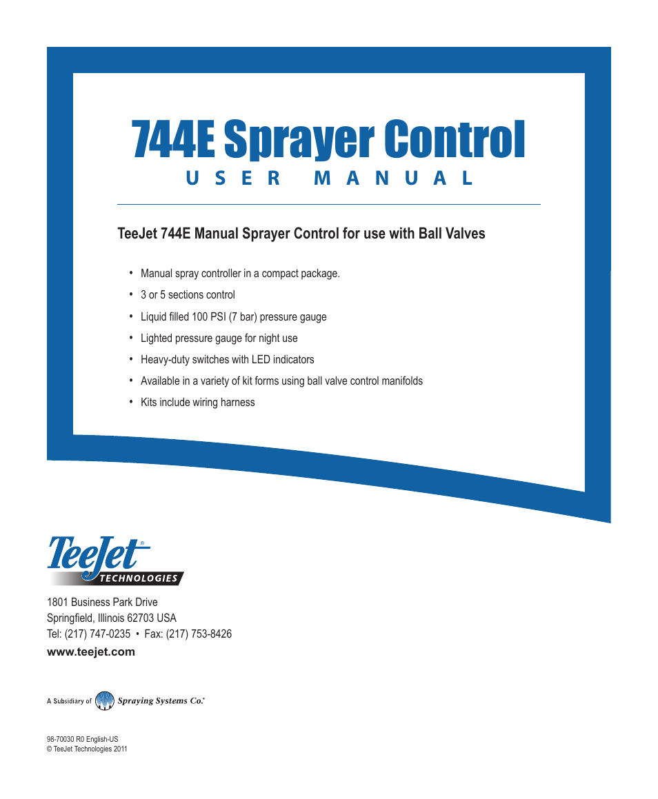 744e Sprayer Control Teejet User Manual Led Indicator Wiring Harness Page 16