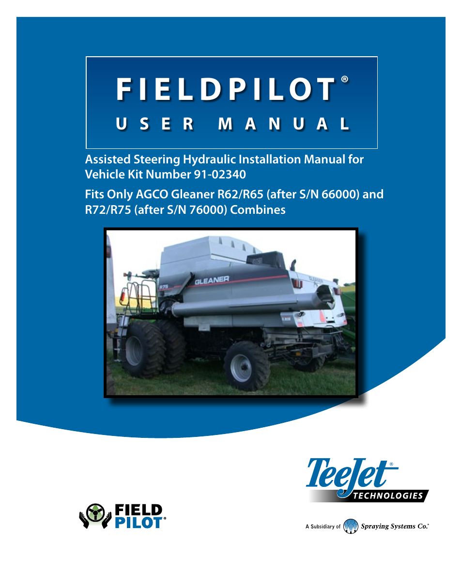 ... Array - teejet fieldpilot install acgo gleaner r62 65 72 75 user manual  20 rh manualsdir