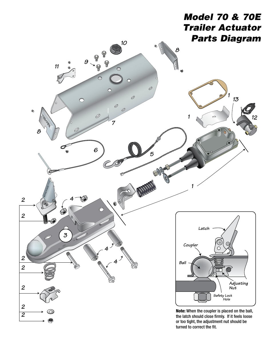 disc brake assembly diagram model 70 amp 70e trailer actuator parts diagram tie down disc brake parts diagram