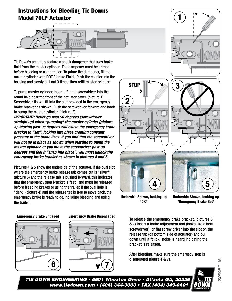 Tie Down 70LP User Manual | Page 8 / 8