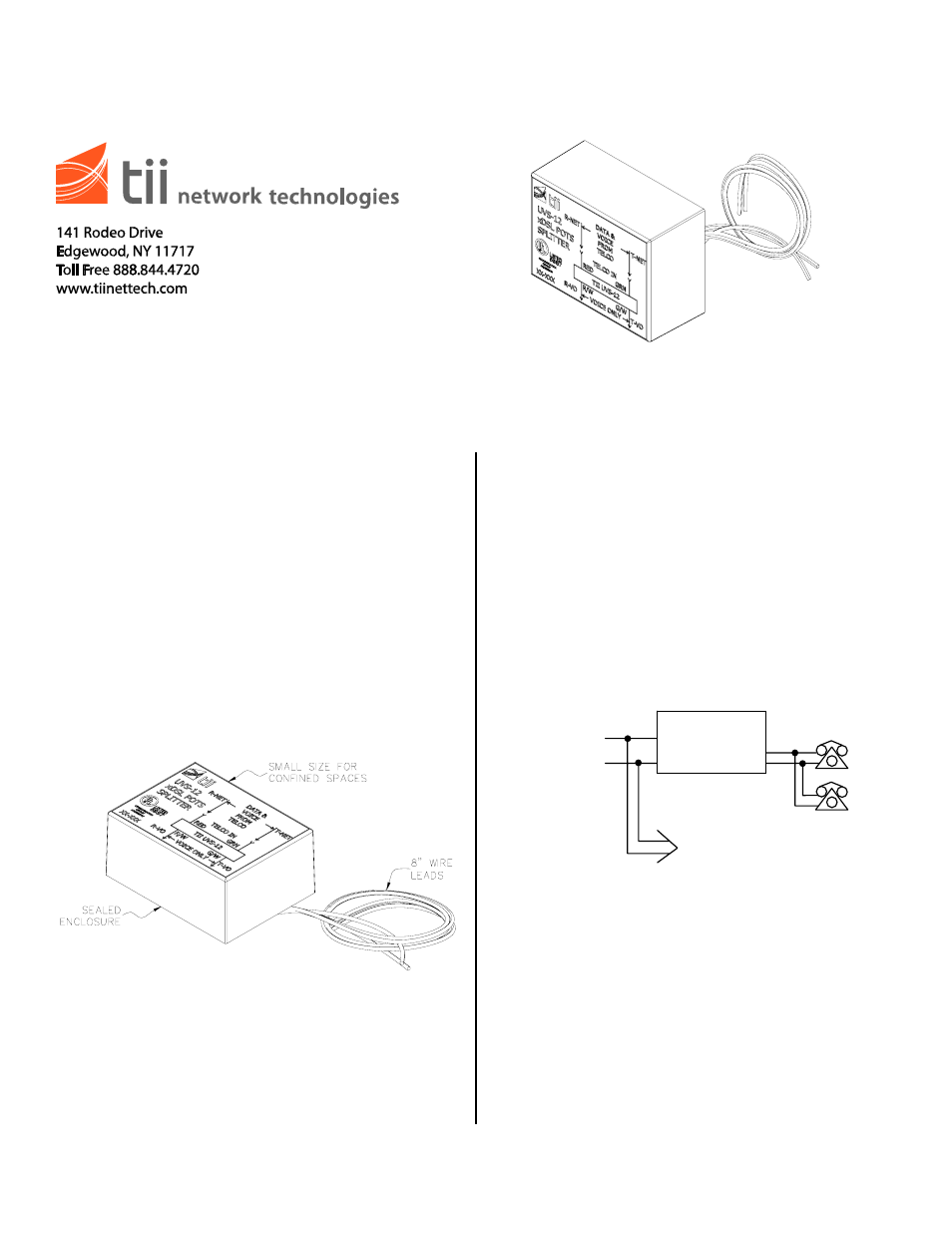 Tii Uvs 12 User Manual 1 Page 2 Line Phone Telephone Splitter Wiring Diagram