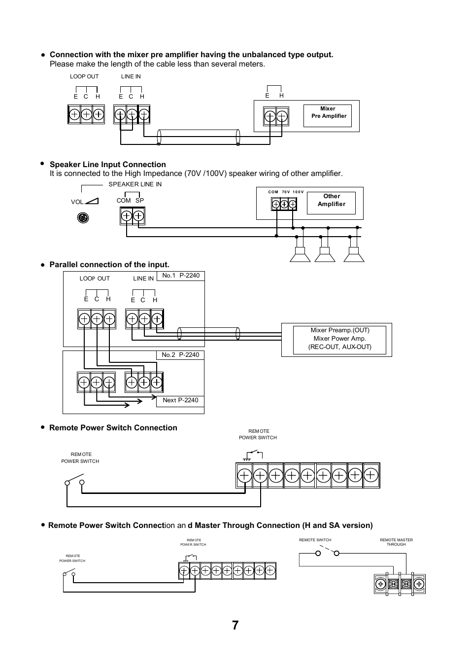 Remote Power Switch Connection Toa P 2240 Sa User Manual Page 7 12 John Deere Wiring Diagram