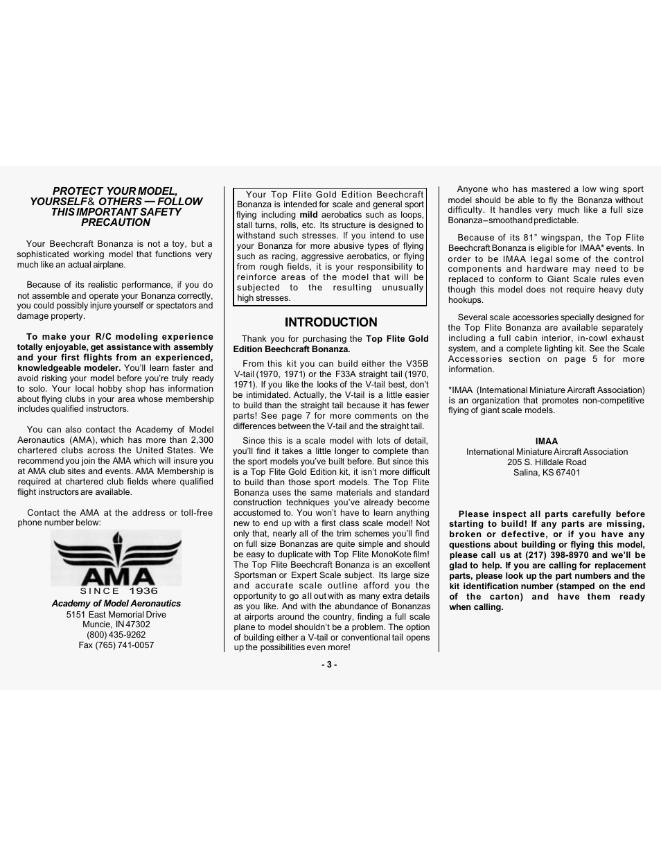Ntroductlon   Top Flite TOPA0305 Part 1 User Manual   Page 4 / 37
