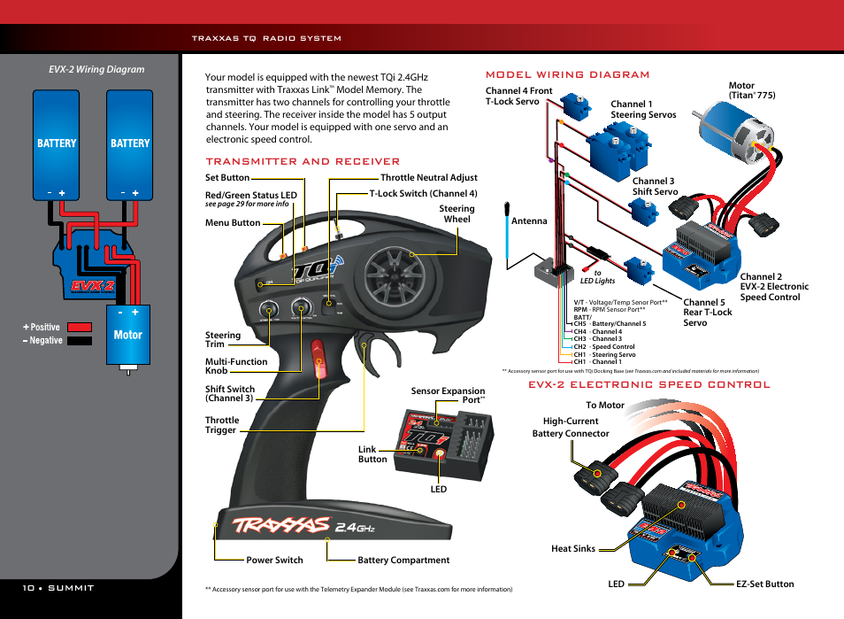 transmitter and receiver, evx 2 electronic speed control, modeltransmitter and receiver, evx 2 electronic speed control, model wiring diagram traxxas