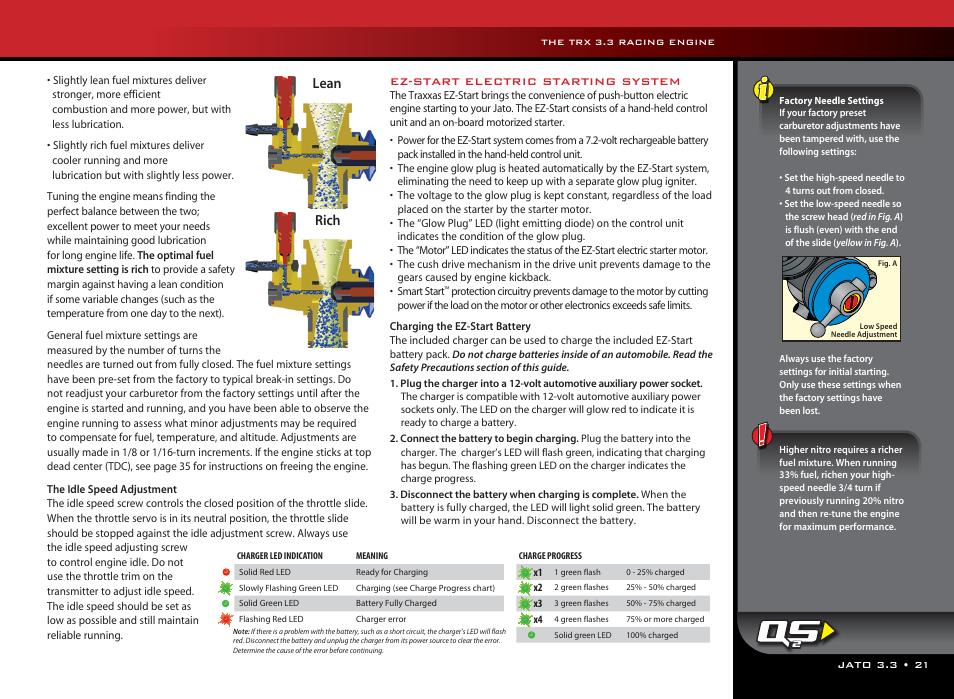 lean rich | traxxas 55077-1 user manual | page 21 / 44
