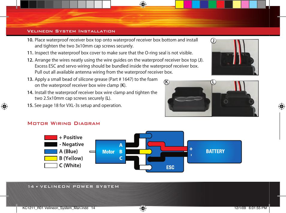 [GJFJ_338]  Motor wiring diagram | Traxxas 3351 Velineon 3500 User Manual | Page 14 /  28 | Original mode | Traxxas Wiring Diagram |  | Manuals Directory