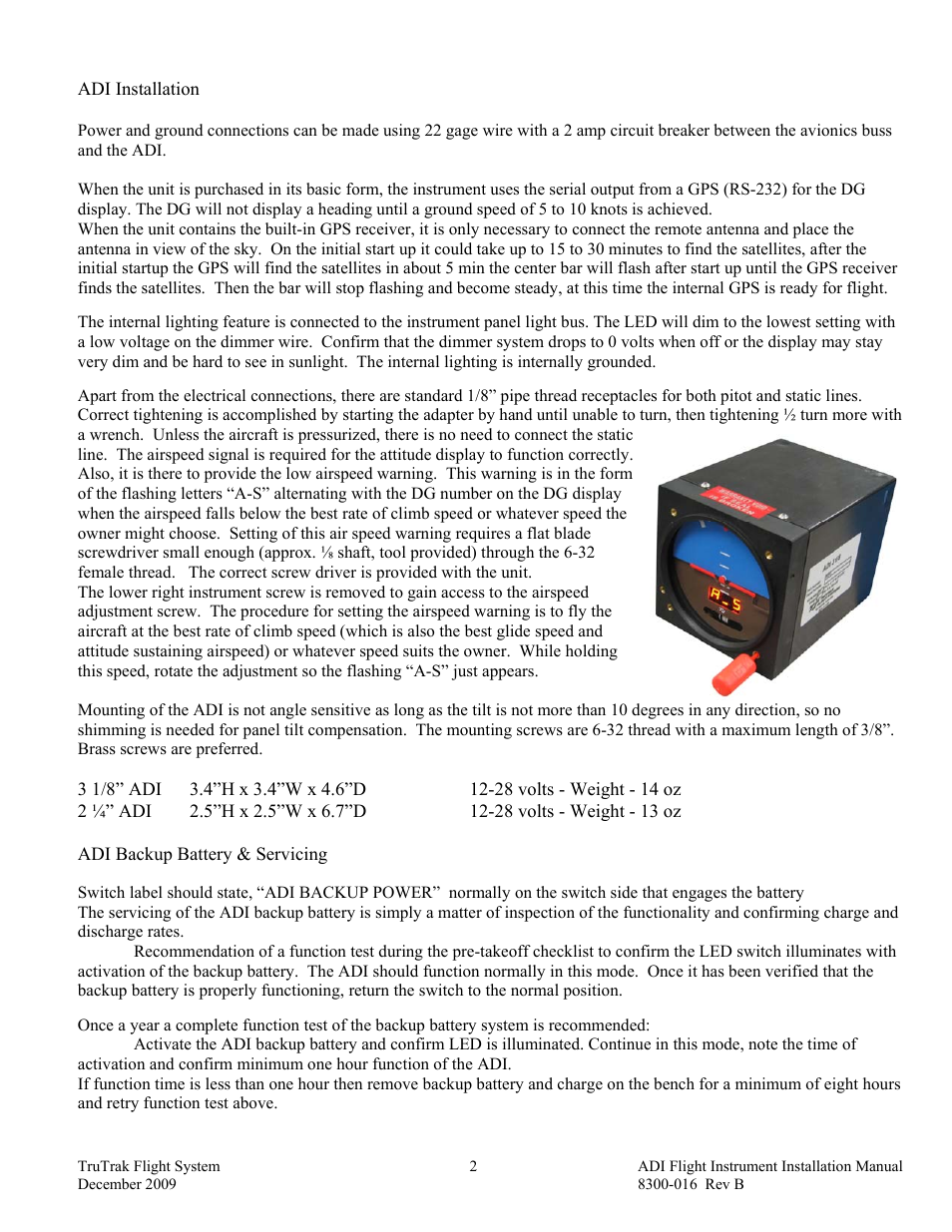 Adi Installation Backup Battery Servicing Trutrak User Circuit Page 1 Manual 4 16