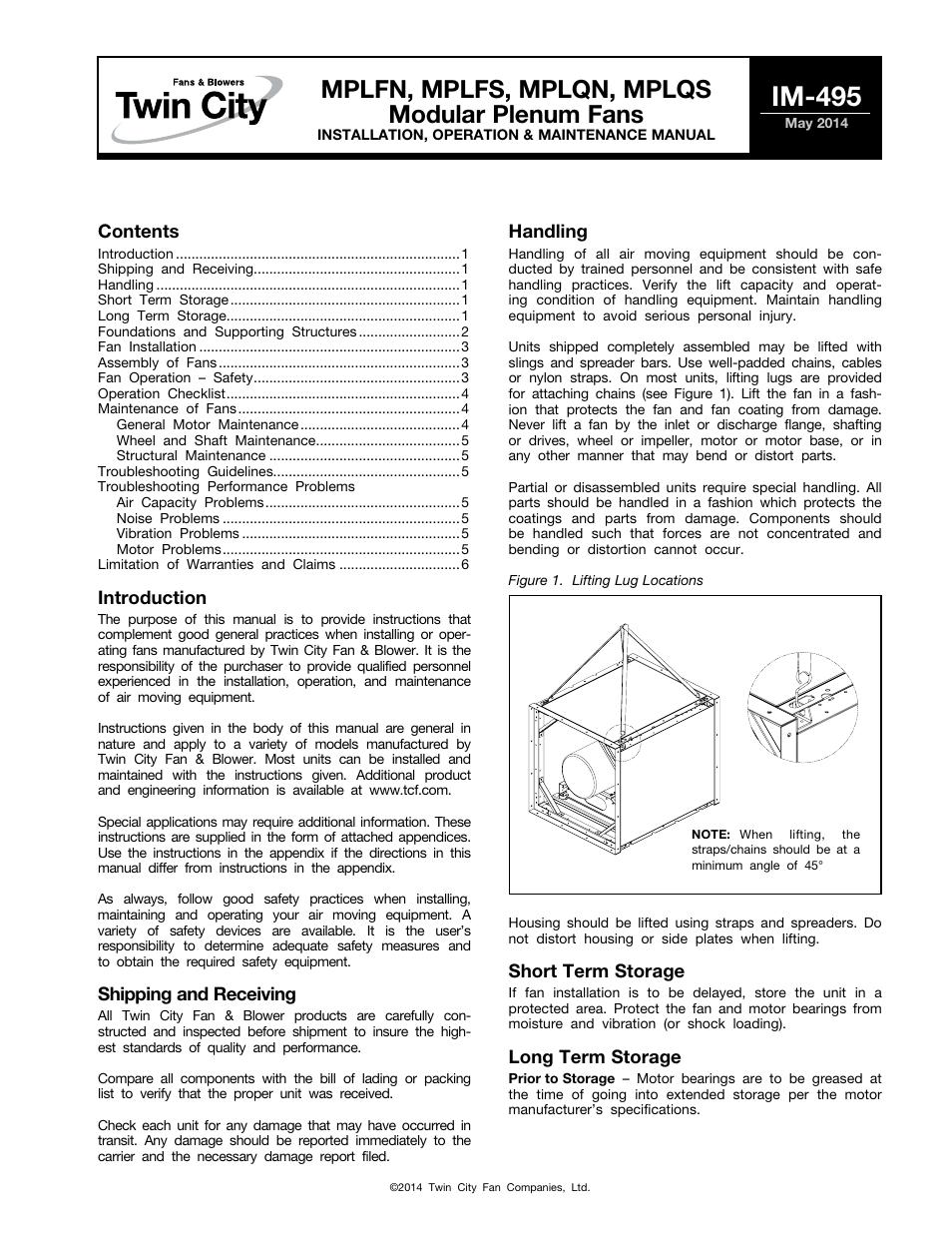 Air Im Report Contents Kuxniya Twin City Fan Wiring Diagram Modular Plenum Fans Mplfn Mplfs Mplqn Mplqs