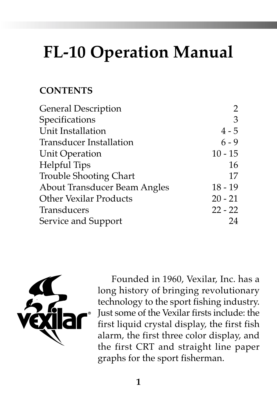 ... Array - vexilar fl 10 user manual 24 pages rh manualsdir ...