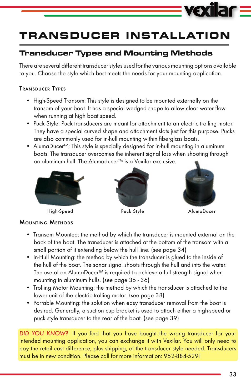transducer installation transducer types and mounting methods rh manualsdir com Instruction Manual Book User Manual PDF