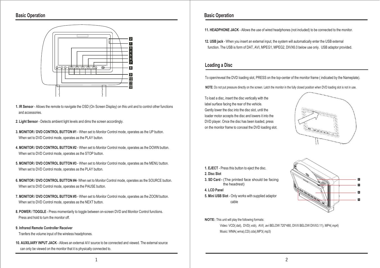 audiovox headrest monitor wiring diagram catalogue of schemas  wiring headrest monitors to dvd player