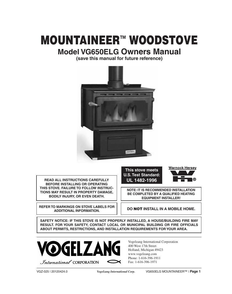 - Vogelzang VG650ELG User Manual 22 Pages