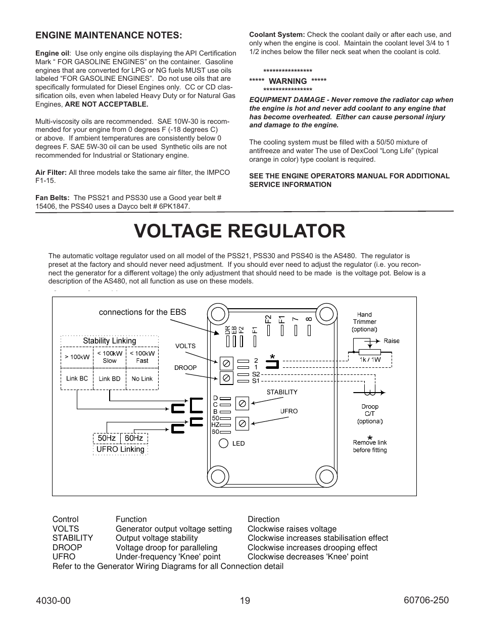 Voltage Regulator Automatic Avr Winco Ulpss40 24 Volt Generator Wiring Diagram I With Dse