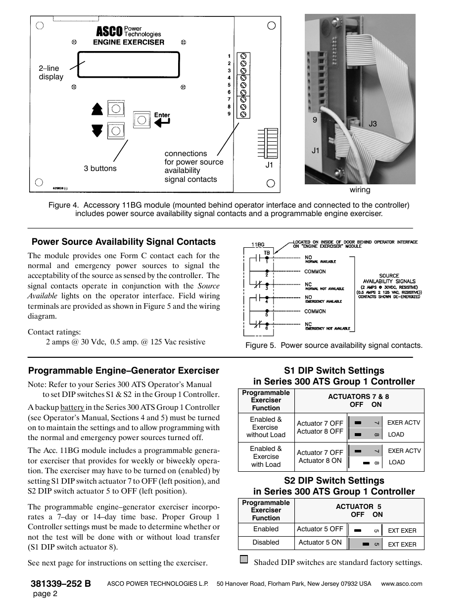 Power Source Availability Signal Contacts Programmable Engine Asco 300 Wiring Diagram Enginegenerator Exerciser Winco Accessory 11bg User Manual Page 2 4