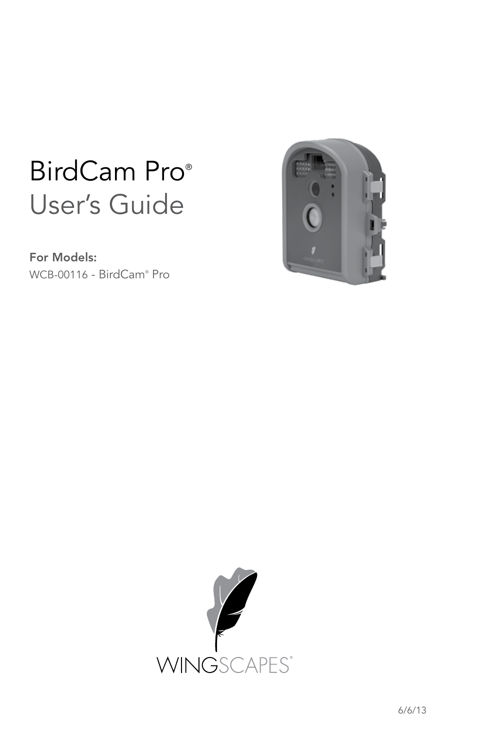 Wingscapes Birdcam Pro User Manual Pages