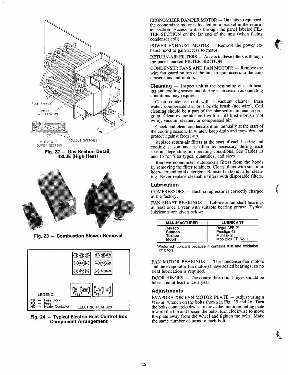 Lubrication Adjustments Carrier 50lj User Manual Page 26 38 Fuse Box