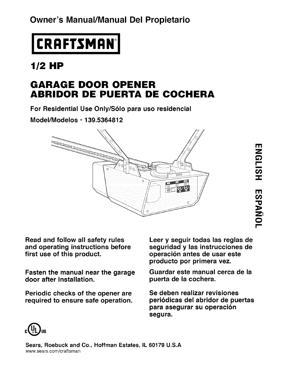 Liftmaster 1 2 Hp Garage Door Opener Adjustment Manual Guide