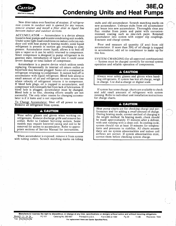 38e q condensing units and heat pumps a caution carrier 38e user rh manualsdir com Instruction Manual Clip Art User Manual