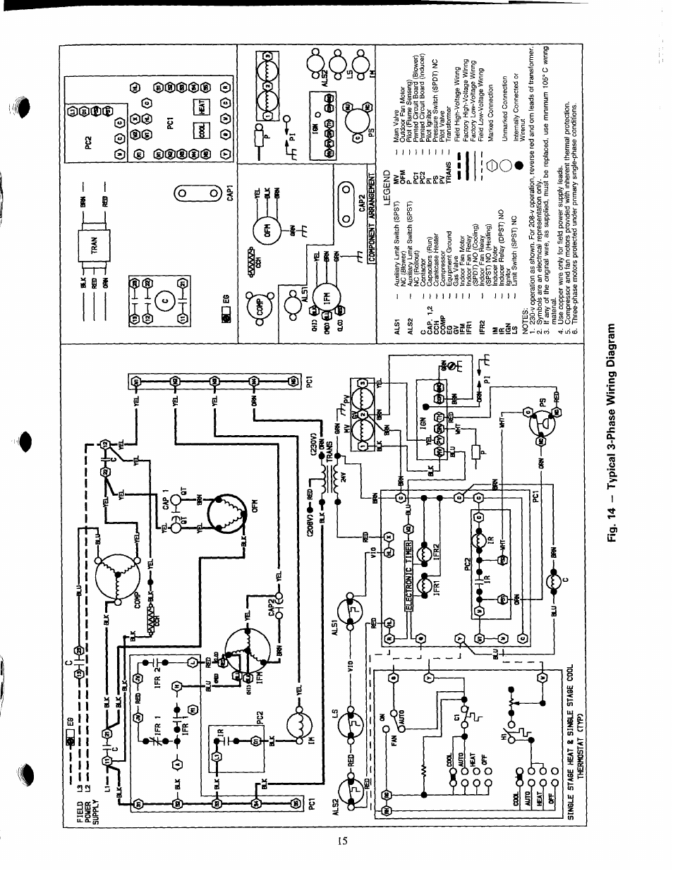 Fig 14 Typical 3 Phase Wiring Diagram 1 Co O Carrier 48nlt User Manual Page 15 27