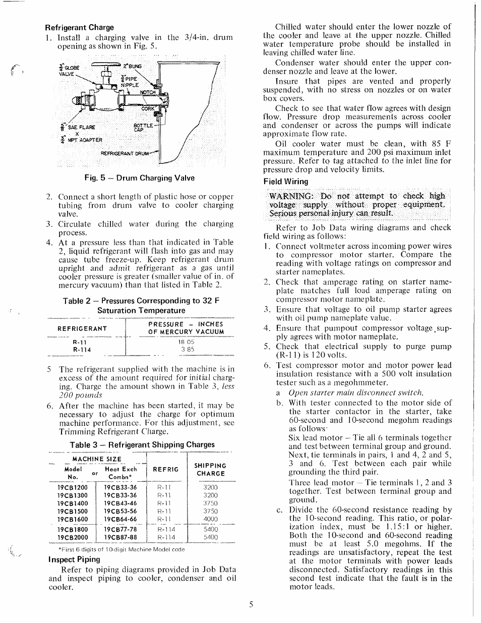 Refrigerant Charge Carrier 19cb User Manual Page 5 12 Piping Diagram Refrigeration