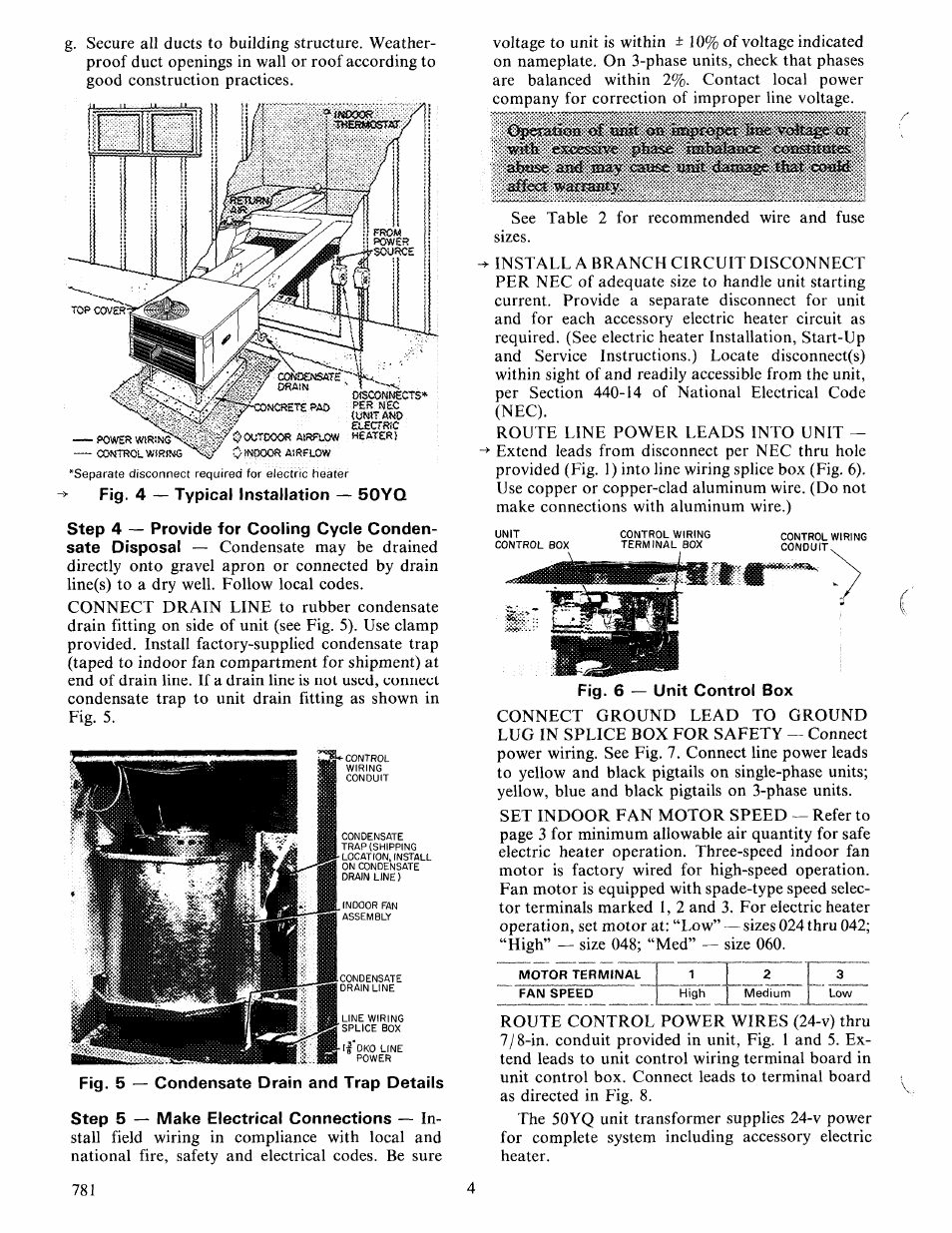 Carrier 50yq User Manual Page 4 16 Electric Fan Install