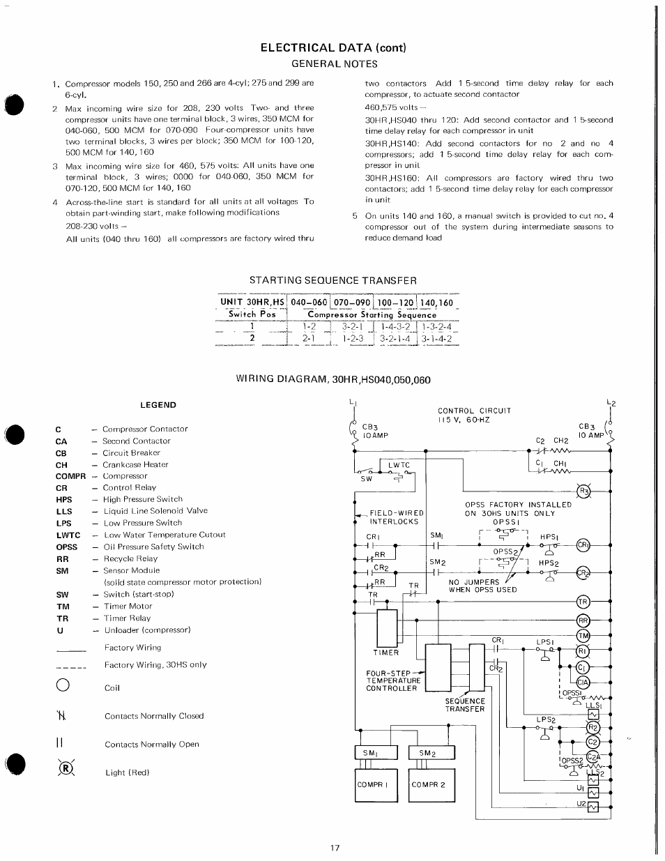 Carrier 30hr User Manual Page 17 20 Contactor Wiring Diagram