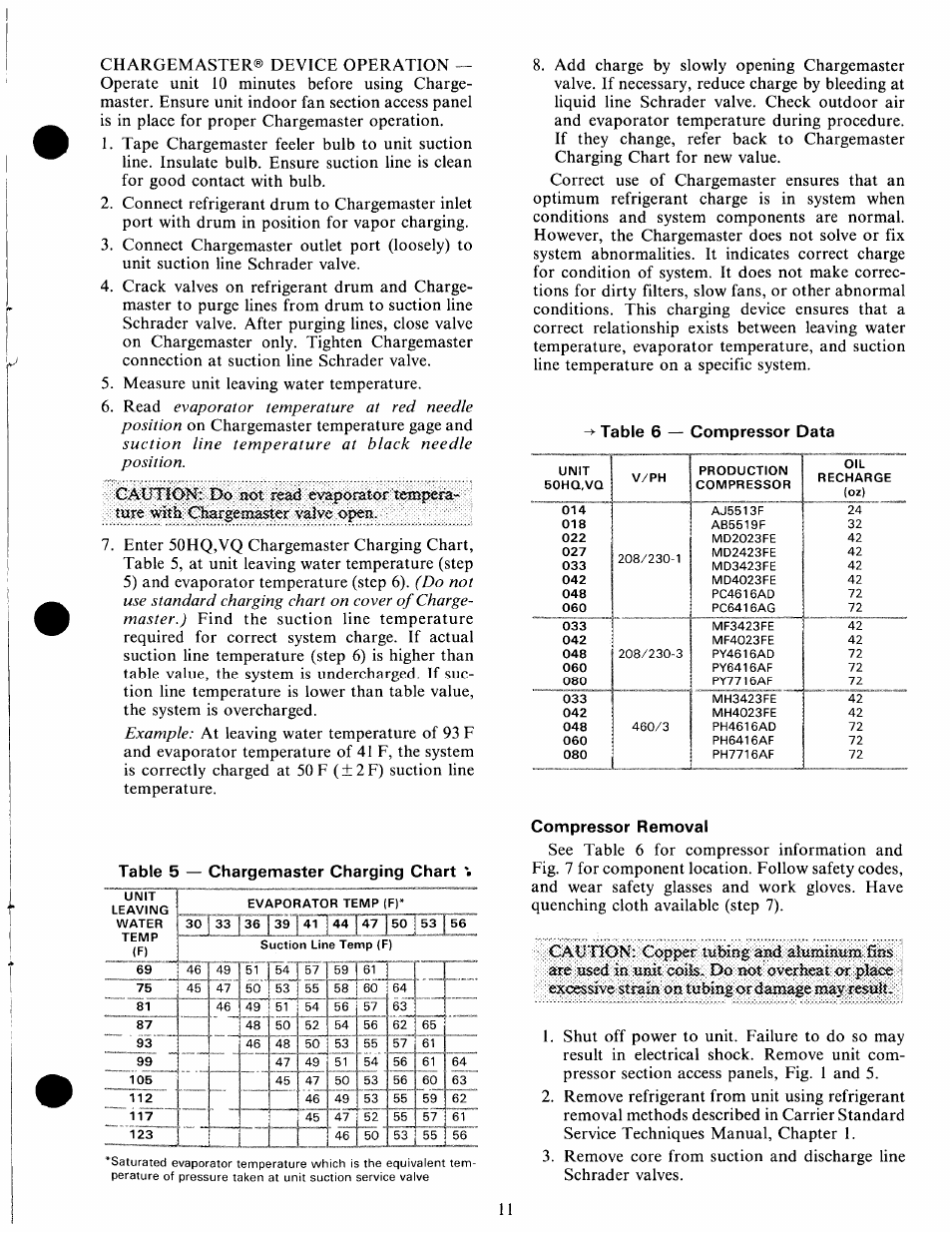 compressor removal carrier 50hq user manual page 11 14 rh manualsdir com carrier 42gw user manual carrier 42nqv035h user manual