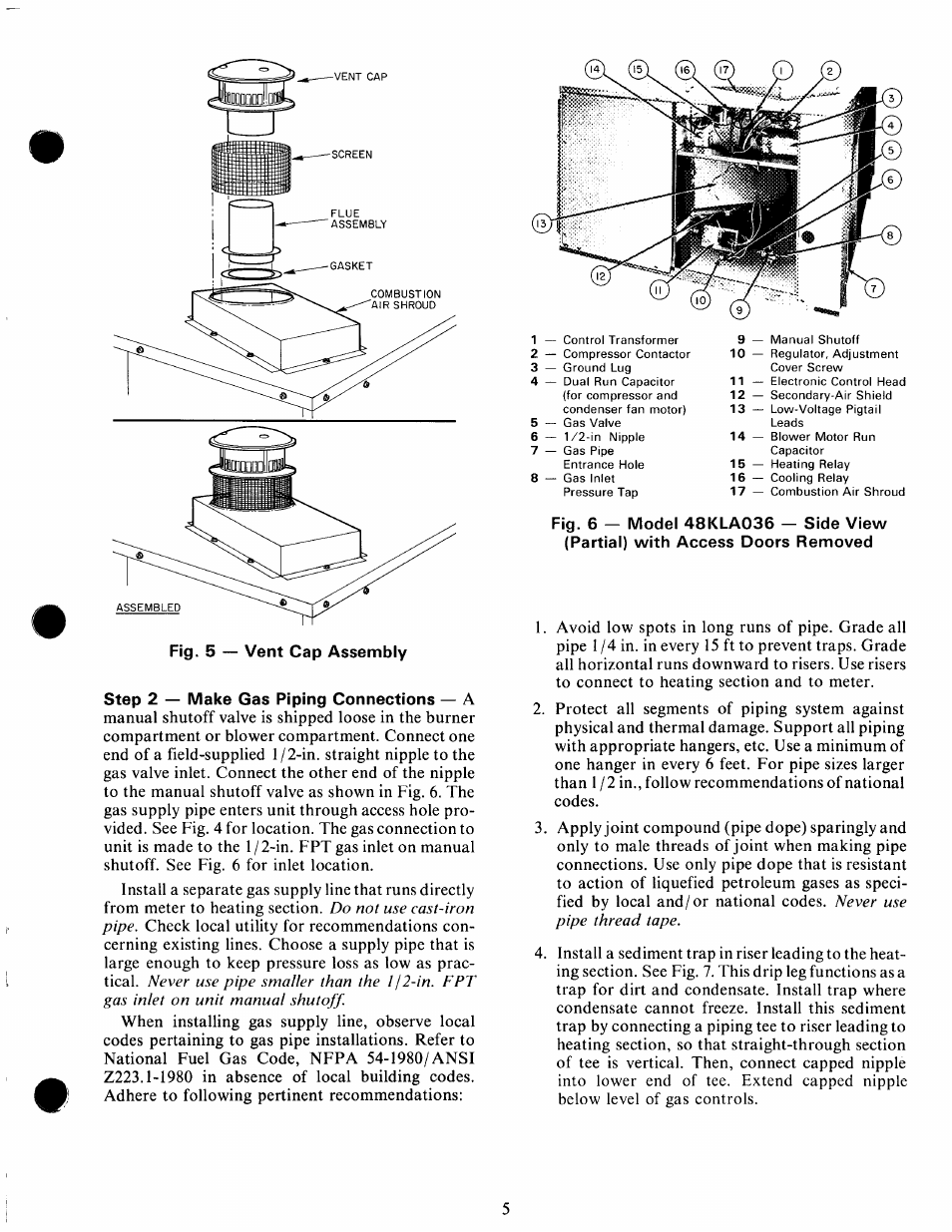 Step 2 — make gas piping connections — a | Carrier 48KHA User Manual | Page  5 / 24