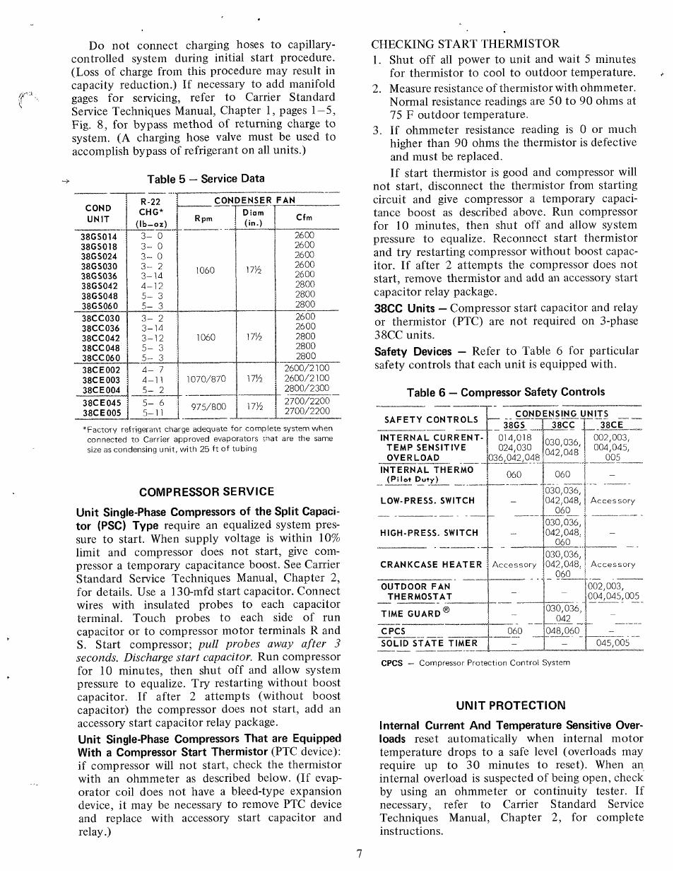 compressor service unit protection carrier 38gs user manual rh manualsdir com Carrier 58MXA Carrier Thermostat Manual