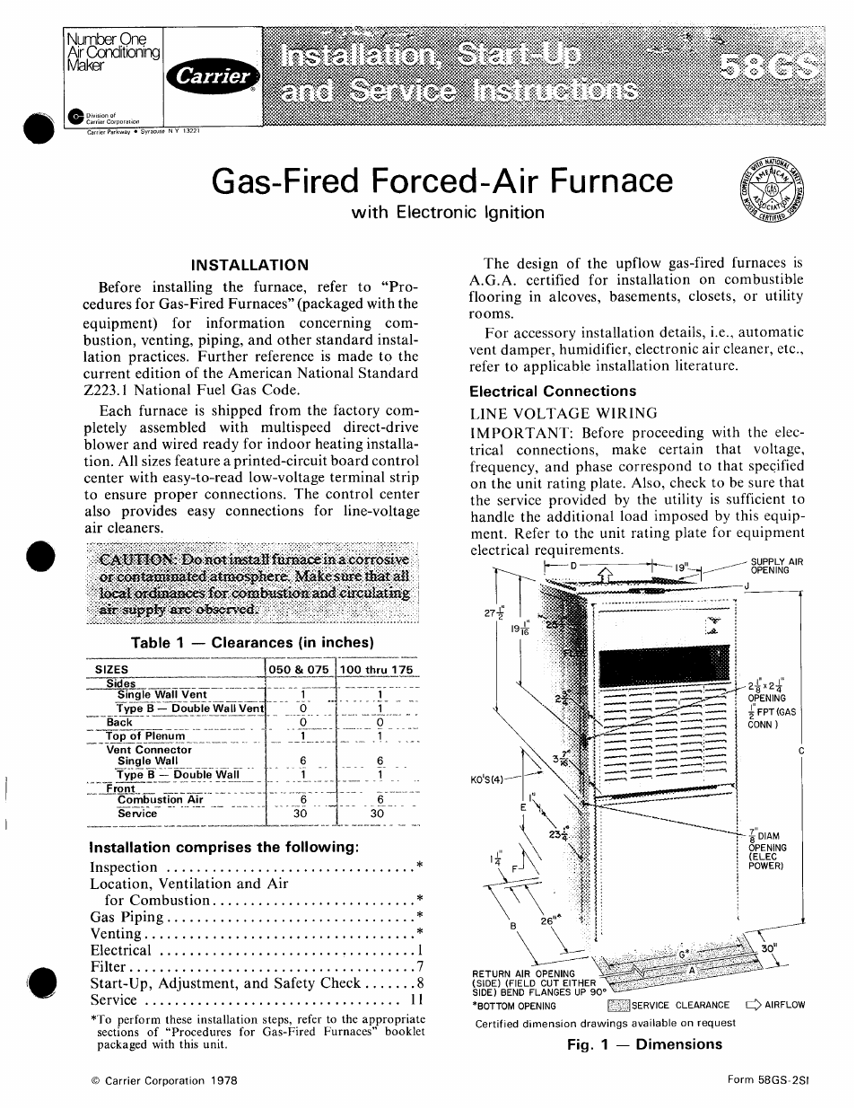 Carrier 58gs User Manual 15 Pages Gas Furnace 58d Schematic