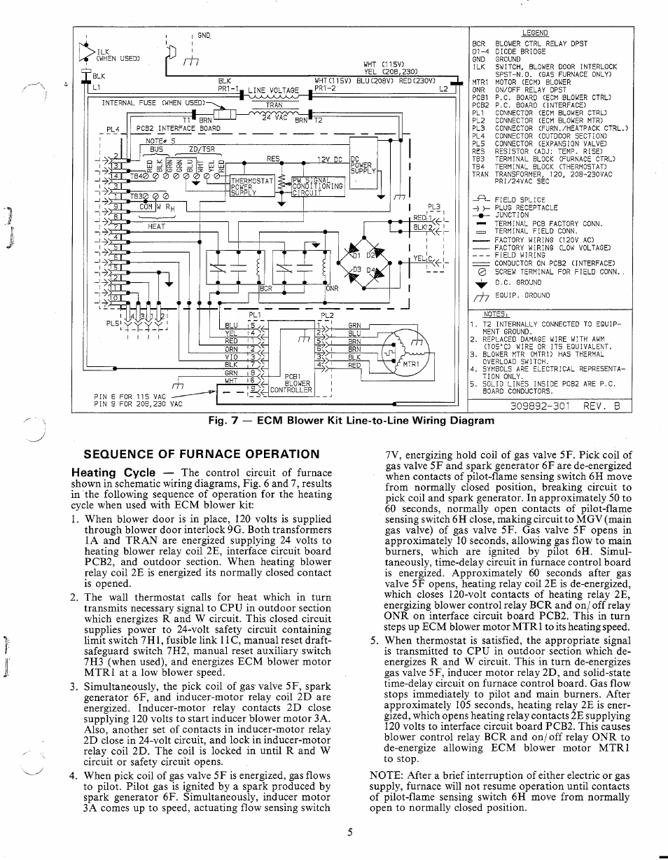 Sequence Of Furnace Operation Carrier 58ssb User Manual Page 5 8 Pri Wiring Diagram