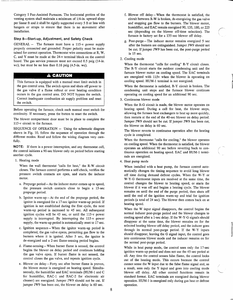 A caution   Carrier 58PAV User Manual   Page 8 / 14