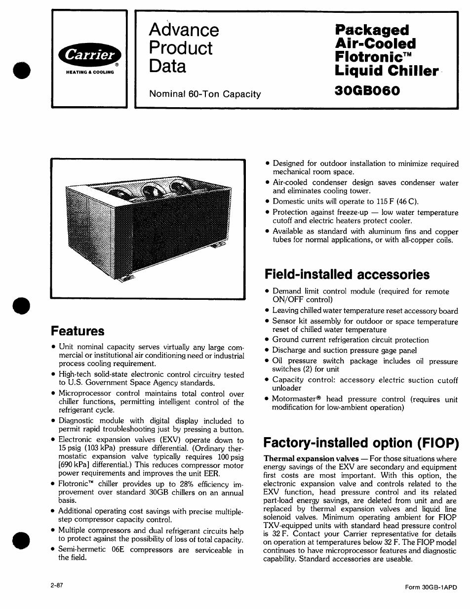 carrier 30gb060 user manual 16 pages rh manualsdir com Carrier Service Manuals carrier 30gb troubleshooting manual