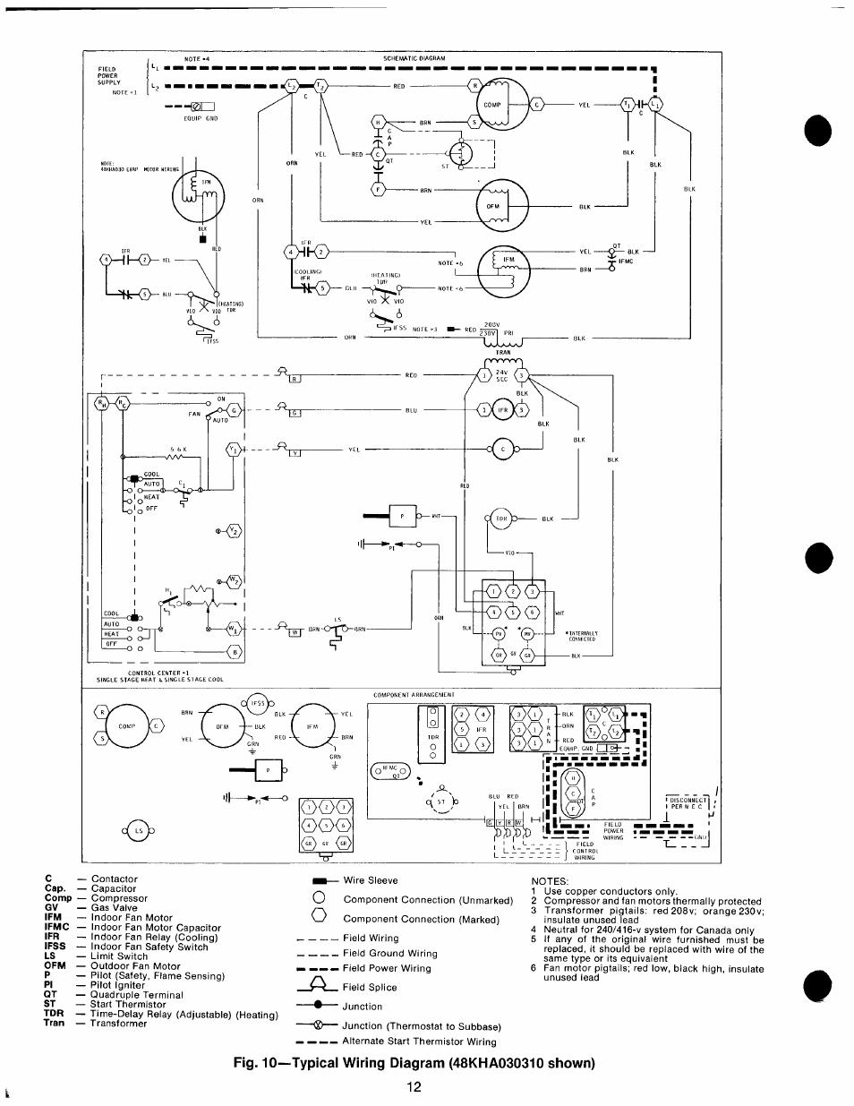 Fig  10 U2014typical Wiring Diagram  48kha030310 Shown