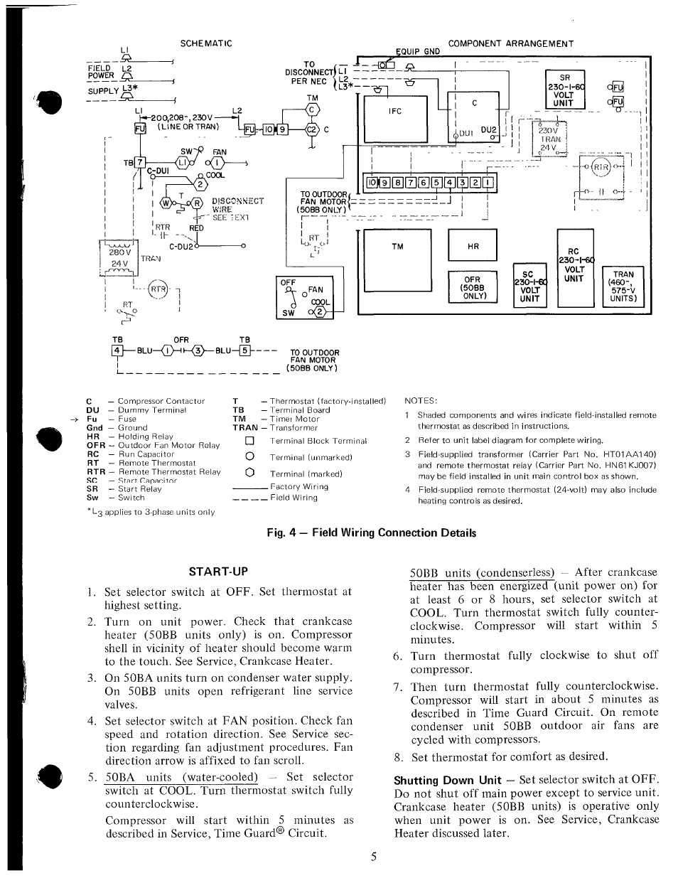 Fig  4  U2014 Field Wiring Connection Details
