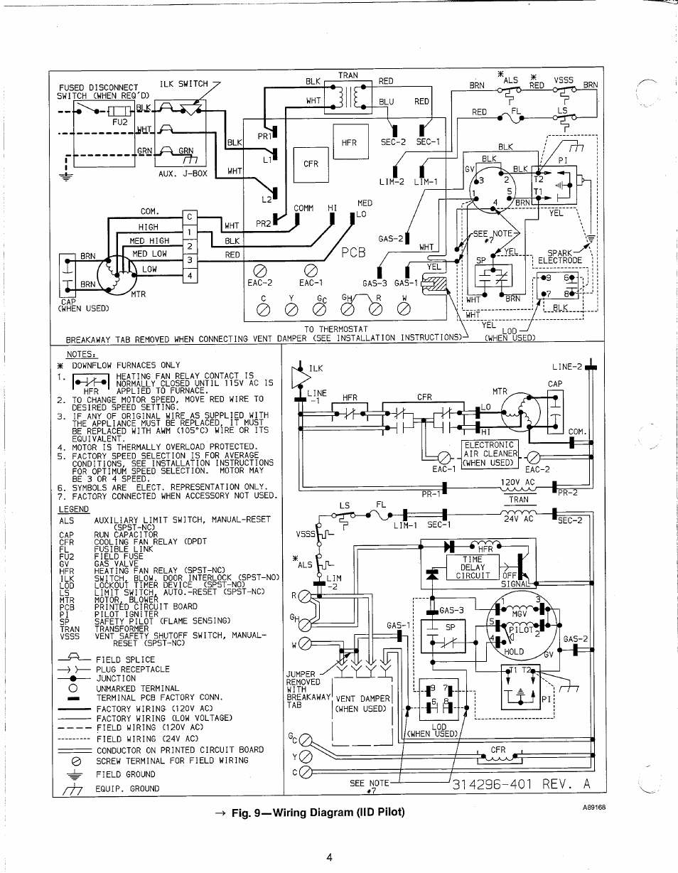 Fig    9         wiring       diagram     iid pilot    Carrier 58DR    User