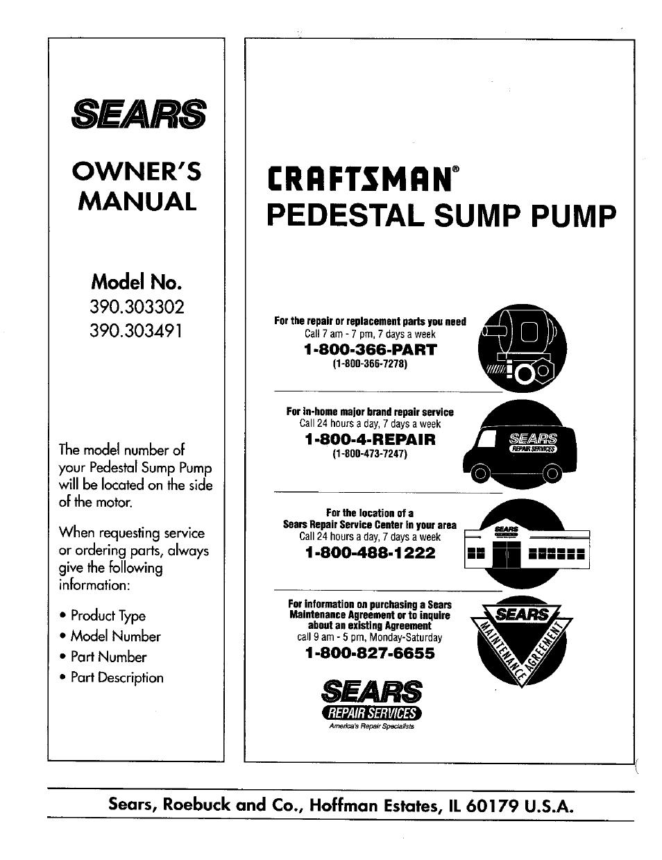 Owners manual pedestal sump pump sears 390303491 user manual owners manual pedestal sump pump sears 390303491 user manual page 8 8 platinumwayz