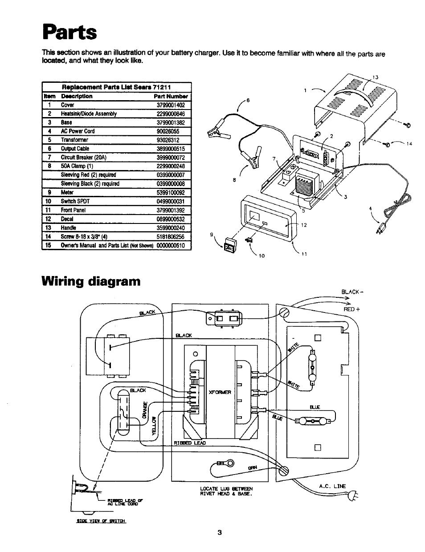 Parts  Wiring Diagram