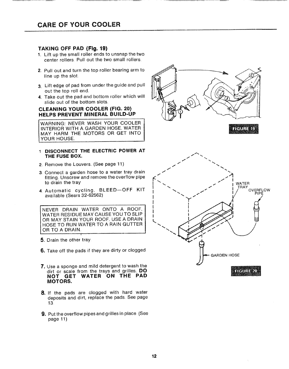 1 Disconnect The Electric Power At Fuse Box Cfie Of Your 6 In Cooler Sears Kenmore 66162442 User Manual Page 12 16