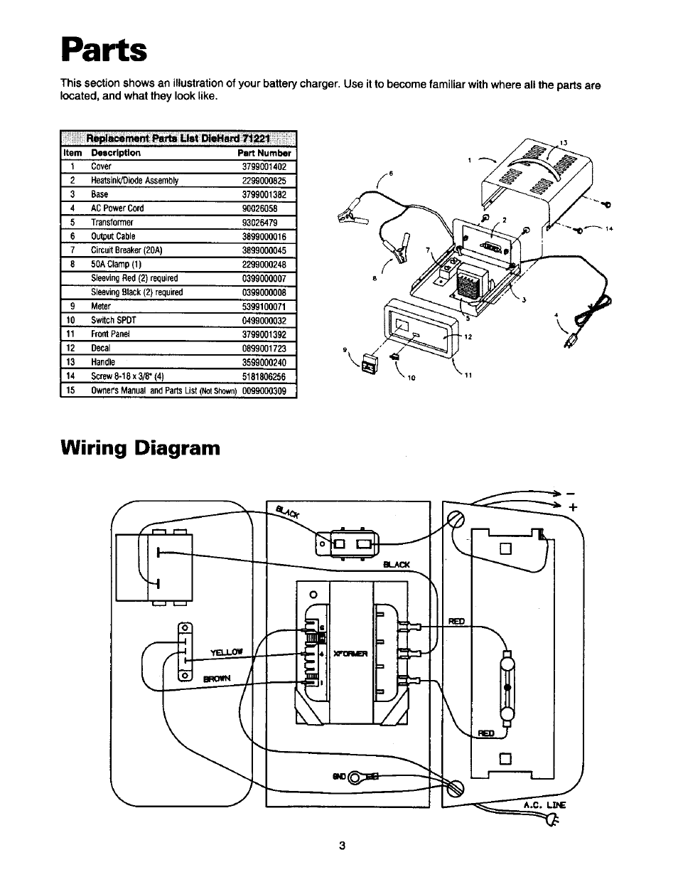 parts  wiring diagram