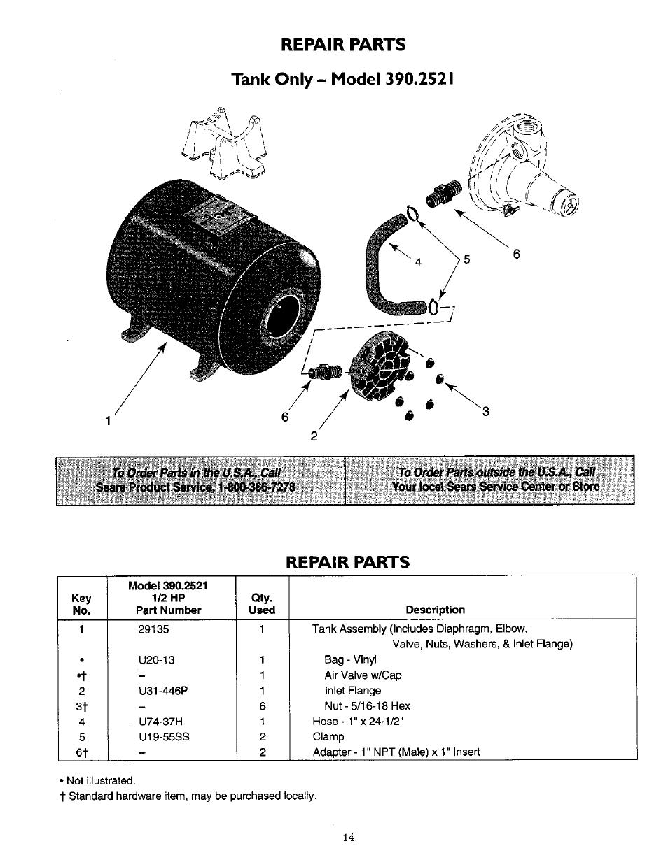 repair parts tank only model 390 2521 sears 390 2521 user rh manualsdir com sears kenmore refrigerator user manual sears user manual 916915