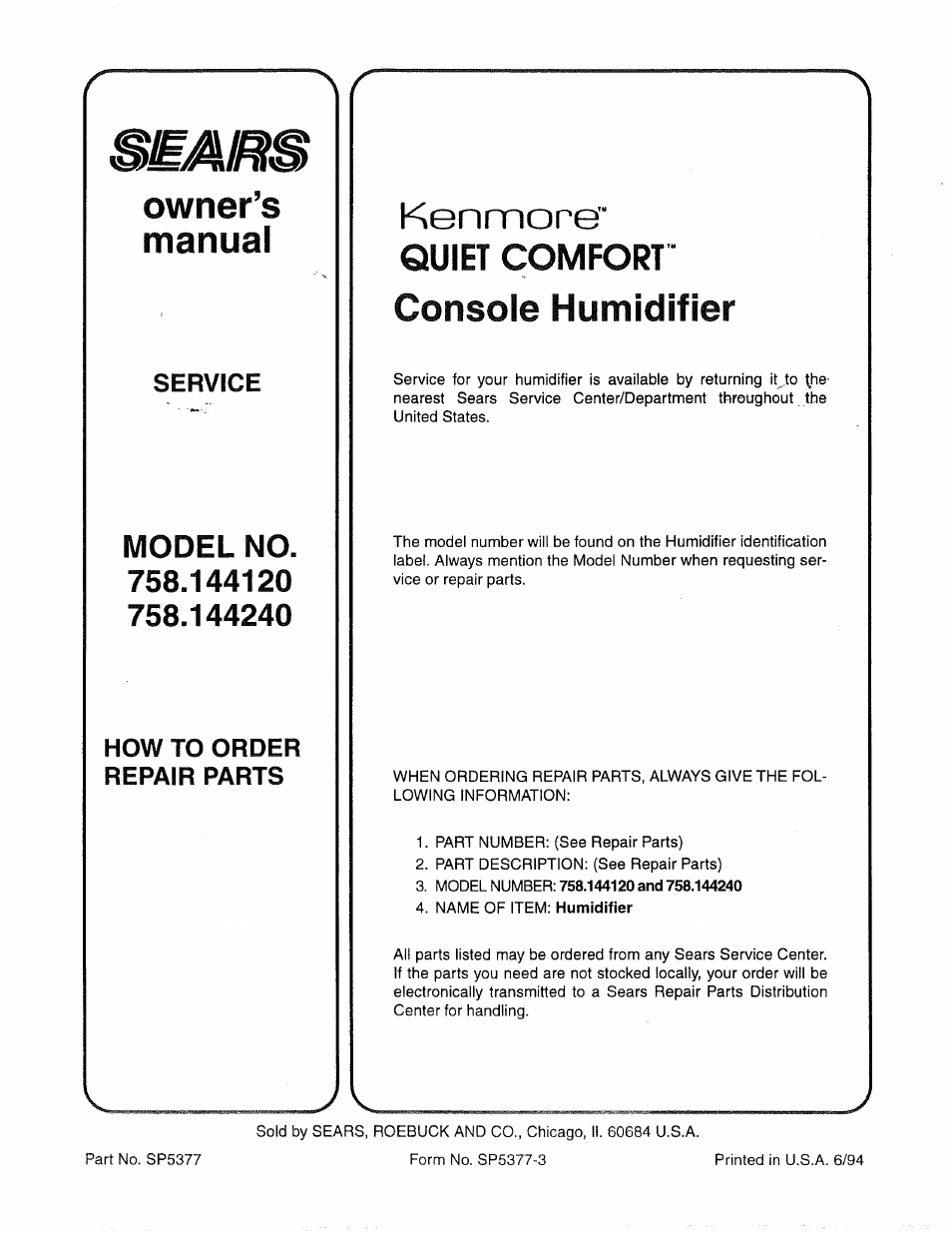 owner s manual kenmore sears kenmore quiet comfort 758 144120 rh manualsdir com sears kenmore refrigerator owners manual sears kenmore refrigerator owners manual