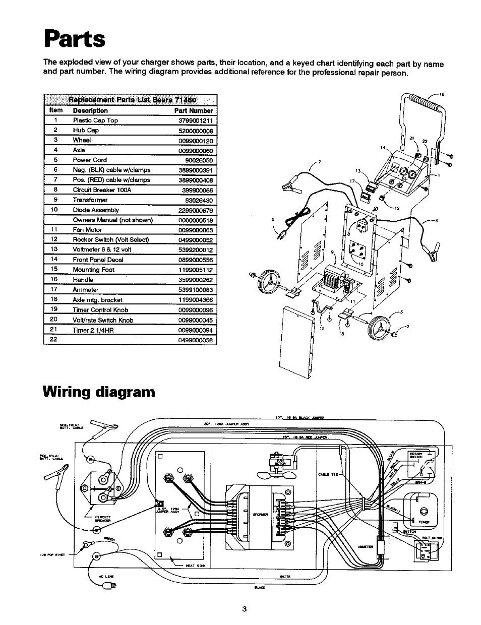 Parts     Wiring       diagram      Sears DieHard 20071460 User Manual   Page 4  15