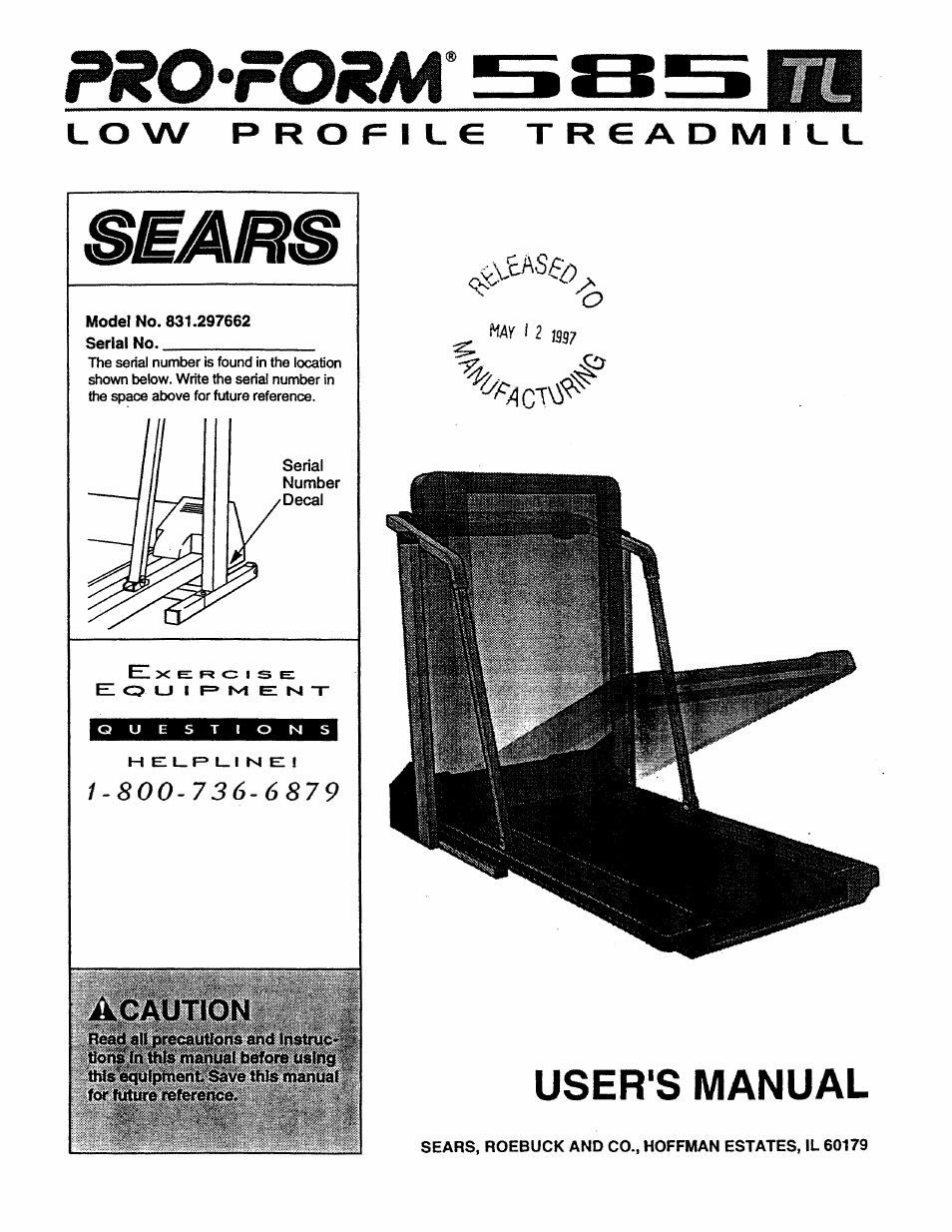 Sears PRO FORM 585 831 297662 User Manual | 19 pages