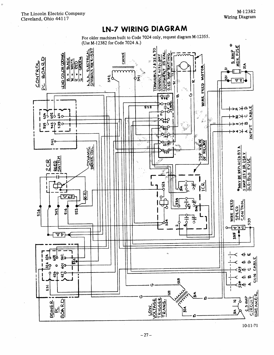 Lincoln Sa 250 Welder Wiring Diagram Library Idealarc Diagrams 300