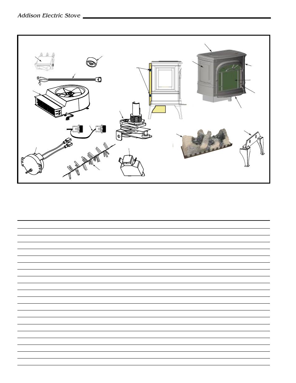 Addison Freestanding Electric Stove  Addison Electric